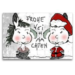 Premium Textil-Leinwand 120 x 80 cm Quer-Format Frohe Weihnachten CB | Wandbild, HD-Bild auf Keilrahmen, Fertigbild auf hochwertigem Vlies, Leinwanddruck von Claudia Burlager