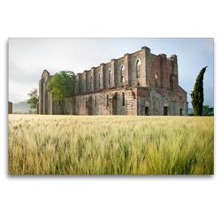 Premium Textil-Leinwand 120 x 80 cm Quer-Format Frühling in der Toskana – Foto eines stattlich historischen Denkmals | Wandbild, HD-Bild auf Keilrahmen, Fertigbild auf hochwertigem Vlies, Leinwanddruck von CALVENDO