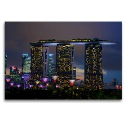 Premium Textil-Leinwand 120 x 80 cm Quer-Format Gardens by the Bay   Wandbild, HD-Bild auf Keilrahmen, Fertigbild auf hochwertigem Vlies, Leinwanddruck von Ralf Wittstock