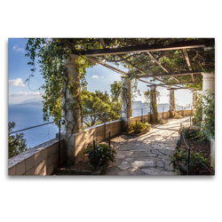 Premium Textil-Leinwand 120 x 80 cm Quer-Format Garten der Villa San Michele auf Capri, Italien | Wandbild, HD-Bild auf Keilrahmen, Fertigbild auf hochwertigem Vlies, Leinwanddruck von Christian Müringer