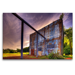 Premium Textil-Leinwand 120 x 80 cm Quer-Format Gartenhaus | Wandbild, HD-Bild auf Keilrahmen, Fertigbild auf hochwertigem Vlies, Leinwanddruck von Heribert Adams foto-you.de