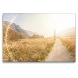 Premium Textil-Leinwand 120 x 80 cm Quer-Format Glenfinnan Monument in den Highlands | Wandbild, HD-Bild auf Keilrahmen, Fertigbild auf hochwertigem Vlies, Leinwanddruck von pixs:sell@Adobe Stock