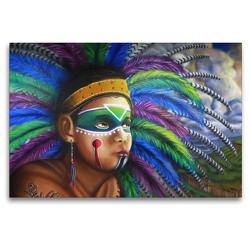 Premium Textil-Leinwand 120 x 80 cm Quer-Format Graffiti in Querétaro | Wandbild, HD-Bild auf Keilrahmen, Fertigbild auf hochwertigem Vlies, Leinwanddruck von Arie Wubben