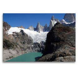 Premium Textil-Leinwand 120 x 80 cm Quer-Format Granitberg Fitz Roy/Argentinisch-chilenische Anden | Wandbild, HD-Bild auf Keilrahmen, Fertigbild auf hochwertigem Vlies, Leinwanddruck von Flori0