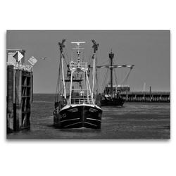 Premium Textil-Leinwand 120 x 80 cm Quer-Format Hafeneinfahrt | Wandbild, HD-Bild auf Keilrahmen, Fertigbild auf hochwertigem Vlies, Leinwanddruck von kattobello