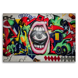 Premium Textil-Leinwand 120 x 80 cm Quer-Format Hall Of Fame, Düsseldorf-Eller | Wandbild, HD-Bild auf Keilrahmen, Fertigbild auf hochwertigem Vlies, Leinwanddruck von Michael Jaster Fotografie Düsseldorf