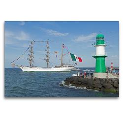 Premium Textil-Leinwand 120 x 80 cm Quer-Format Hanse-Sail | Wandbild, HD-Bild auf Keilrahmen, Fertigbild auf hochwertigem Vlies, Leinwanddruck von N N