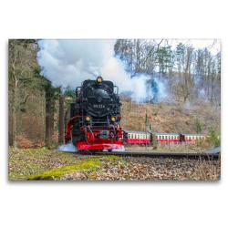 Premium Textil-Leinwand 120 x 80 cm Quer-Format Harzquerbahn | Wandbild, HD-Bild auf Keilrahmen, Fertigbild auf hochwertigem Vlies, Leinwanddruck von Holger Felix