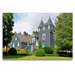 Premium Textil-Leinwand 120 x 80 cm Quer-Format Haus Grünwald, Solingen   Wandbild, HD-Bild auf Keilrahmen, Fertigbild auf hochwertigem Vlies, Leinwanddruck von Udo Haafke