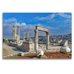 Premium Textil-Leinwand 120 x 80 cm Quer-Format Herkulestempel in Amman | Wandbild, HD-Bild auf Keilrahmen, Fertigbild auf hochwertigem Vlies, Leinwanddruck von Klaus Eppele