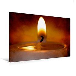 Premium Textil-Leinwand 120 x 80 cm Quer-Format Herziger Kerzenschein | Wandbild, HD-Bild auf Keilrahmen, Fertigbild auf hochwertigem Vlies, Leinwanddruck von Heike Hultsch von Hultsch,  Heike