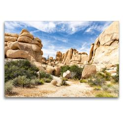 Premium Textil-Leinwand 120 x 80 cm Quer-Format Hidden Valley | Wandbild, HD-Bild auf Keilrahmen, Fertigbild auf hochwertigem Vlies, Leinwanddruck von Andreas Klesse