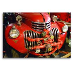 Premium Textil-Leinwand 120 x 80 cm Quer-Format Historische Feuerwehren im Detail   Wandbild, HD-Bild auf Keilrahmen, Fertigbild auf hochwertigem Vlies, Leinwanddruck von Ingo Laue
