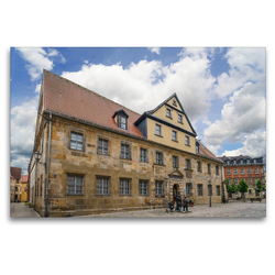Premium Textil-Leinwand 120 x 80 cm Quer-Format Historisches Museum Bayreuth | Wandbild, HD-Bild auf Keilrahmen, Fertigbild auf hochwertigem Vlies, Leinwanddruck von Dirk Meutzner