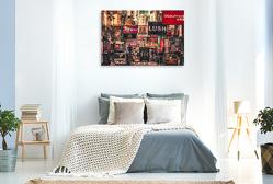 Premium Textil-Leinwand 120 x 80 cm Quer-Format Hongkong | Wandbild, HD-Bild auf Keilrahmen, Fertigbild auf hochwertigem Vlies, Leinwanddruck von Peter Roder