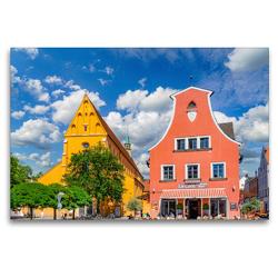 Premium Textil-Leinwand 120 x 80 cm Quer-Format Ingolstadt Impressionen | Wandbild, HD-Bild auf Keilrahmen, Fertigbild auf hochwertigem Vlies, Leinwanddruck von Dirk Meutzner