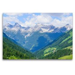 Premium Textil-Leinwand 120 x 80 cm Quer-Format Kleinwalsertal in Österreich | Wandbild, HD-Bild auf Keilrahmen, Fertigbild auf hochwertigem Vlies, Leinwanddruck von Karin Sigwarth