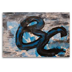 Premium Textil-Leinwand 120 x 80 cm Quer-Format Komposition aus blau und schwarz | Wandbild, HD-Bild auf Keilrahmen, Fertigbild auf hochwertigem Vlies, Leinwanddruck von N N