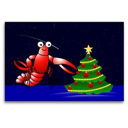 Premium Textil-Leinwand 120 x 80 cm Quer-Format Krabbe Michael mag Weihnachten sehr | Wandbild, HD-Bild auf Keilrahmen, Fertigbild auf hochwertigem Vlies, Leinwanddruck von Monika Altenburger