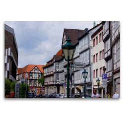 Premium Textil-Leinwand 120 x 80 cm Quer-Format Krämerstrasse in Hannover | Wandbild, HD-Bild auf Keilrahmen, Fertigbild auf hochwertigem Vlies, Leinwanddruck von kattobello