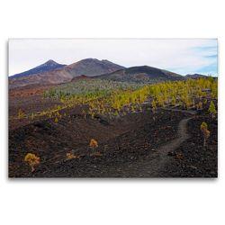 Premium Textil-Leinwand 120 x 80 cm Quer-Format Landschaft im Teide Nationalpark Teneriffa | Wandbild, HD-Bild auf Keilrahmen, Fertigbild auf hochwertigem Vlies, Leinwanddruck von Anja Frost