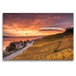 Premium Textil-Leinwand 120 x 80 cm Quer-Format Lavaux | Wandbild, HD-Bild auf Keilrahmen, Fertigbild auf hochwertigem Vlies, Leinwanddruck von Jackie Venzin