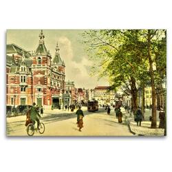 Premium Textil-Leinwand 120 x 80 cm Quer-Format Leidscheplein m. Stadsschouwburg, Amsterdam | Wandbild, HD-Bild auf Keilrahmen, Fertigbild auf hochwertigem Vlies, Leinwanddruck von Jens Siebert