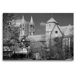 Premium Textil-Leinwand 120 x 80 cm Quer-Format Liebfrauenkirche in Arnstadt/Thüringen | Wandbild, HD-Bild auf Keilrahmen, Fertigbild auf hochwertigem Vlies, Leinwanddruck von Flori0