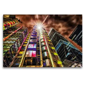 Premium Textil-Leinwand 120 x 80 cm Quer-Format Lloyd's Building in London, Großbritannien | Wandbild, HD-Bild auf Keilrahmen, Fertigbild auf hochwertigem Vlies, Leinwanddruck von Christian Müller