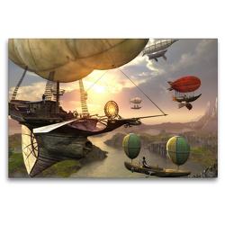 Premium Textil-Leinwand 120 x 80 cm Quer-Format Luftschiffe | Wandbild, HD-Bild auf Keilrahmen, Fertigbild auf hochwertigem Vlies, Leinwanddruck von Karsten Schröder