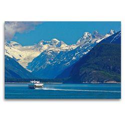 Premium Textil-Leinwand 120 x 80 cm Quer-Format M/V Fairweather auf dem Weg nach Juneau | Wandbild, HD-Bild auf Keilrahmen, Fertigbild auf hochwertigem Vlies, Leinwanddruck von Dieter-M. Wilczek