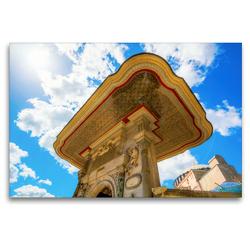 Premium Textil-Leinwand 120 x 80 cm Quer-Format Malerisches Tor des Teppichmuseums Hali | Wandbild, HD-Bild auf Keilrahmen, Fertigbild auf hochwertigem Vlies, Leinwanddruck von Christian Müller