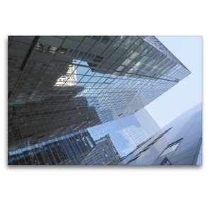 Premium Textil-Leinwand 120 x 80 cm Quer-Format Manhattan Skyscraper | Wandbild, HD-Bild auf Keilrahmen, Fertigbild auf hochwertigem Vlies, Leinwanddruck von Michael Ermel