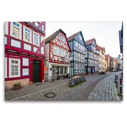 Premium Textil-Leinwand 120 x 80 cm Quer-Format Marburg Impressionen | Wandbild, HD-Bild auf Keilrahmen, Fertigbild auf hochwertigem Vlies, Leinwanddruck von Dirk Meutzner