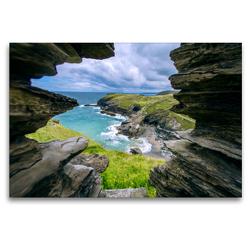 Premium Textil-Leinwand 120 x 80 cm Quer-Format Merlins Cave | Wandbild, HD-Bild auf Keilrahmen, Fertigbild auf hochwertigem Vlies, Leinwanddruck von Alfred Hadler