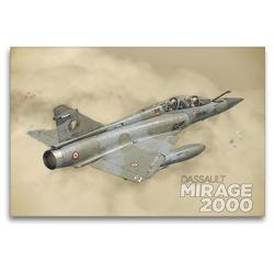 Premium Textil-Leinwand 120 x 80 cm Quer-Format Mirage 2000N   Wandbild, HD-Bild auf Keilrahmen, Fertigbild auf hochwertigem Vlies, Leinwanddruck von Nick Delhanidis