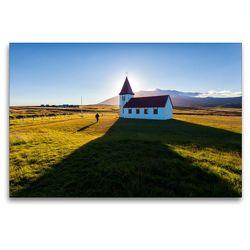 Premium Textil-Leinwand 120 x 80 cm Quer-Format Mitternachtssonne | Wandbild, HD-Bild auf Keilrahmen, Fertigbild auf hochwertigem Vlies, Leinwanddruck von Andreas Klesse
