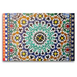 Premium Textil-Leinwand 120 x 80 cm Quer-Format Mosaik, Marrakesch | Wandbild, HD-Bild auf Keilrahmen, Fertigbild auf hochwertigem Vlies, Leinwanddruck von Gabriele Gerner-Haudum