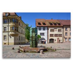 Premium Textil-Leinwand 120 x 80 cm Quer-Format Münsterbrunnen in Villingen   Wandbild, HD-Bild auf Keilrahmen, Fertigbild auf hochwertigem Vlies, Leinwanddruck von Stefanie und Philipp Kellmann