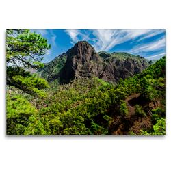 Premium Textil-Leinwand 120 x 80 cm Quer-Format Nationalpark Caldera de Taburiente | Wandbild, HD-Bild auf Keilrahmen, Fertigbild auf hochwertigem Vlies, Leinwanddruck von Michael Jaster