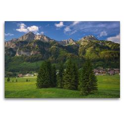 Premium Textil-Leinwand 120 x 80 cm Quer-Format Nesselwängle   Wandbild, HD-Bild auf Keilrahmen, Fertigbild auf hochwertigem Vlies, Leinwanddruck von Steffen Gierok