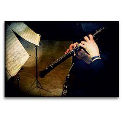 Premium Textil-Leinwand 120 x 80 cm Quer-Format Oboe | Wandbild, HD-Bild auf Keilrahmen, Fertigbild auf hochwertigem Vlies, Leinwanddruck von Martina Marten