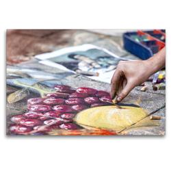 Premium Textil-Leinwand 120 x 80 cm Quer-Format Obstkorb   Wandbild, HD-Bild auf Keilrahmen, Fertigbild auf hochwertigem Vlies, Leinwanddruck von Andreas Klesse