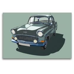 Premium Textil-Leinwand 120 x 80 cm Quer-Format Opel Rekord | Wandbild, HD-Bild auf Keilrahmen, Fertigbild auf hochwertigem Vlies, Leinwanddruck von Karl-Heinz Morawietz