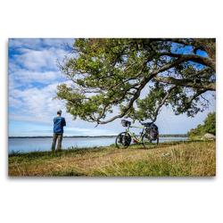 Premium Textil-Leinwand 120 x 80 cm Quer-Format Ostsee Radreise: Naturreservat Kungshamn-Morga, Schweden (Uppsala Iän) | Wandbild, HD-Bild auf Keilrahmen, Fertigbild auf hochwertigem Vlies, Leinwanddruck von Bernd Schadowski