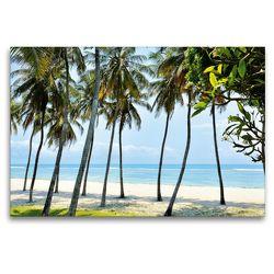 Premium Textil-Leinwand 120 x 80 cm Quer-Format Palmenstrand Ostafrika   Wandbild, HD-Bild auf Keilrahmen, Fertigbild auf hochwertigem Vlies, Leinwanddruck von Jürgen Feuerer