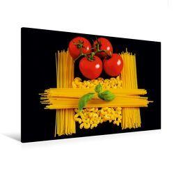 Premium Textil-Leinwand 120 x 80 cm Quer-Format Pasta | Wandbild, HD-Bild auf Keilrahmen, Fertigbild auf hochwertigem Vlies, Leinwanddruck von Thomas Jäger