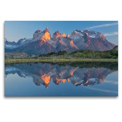Premium Textil-Leinwand 120 x 80 cm Quer-Format Patagonien & Feuerland | Wandbild, HD-Bild auf Keilrahmen, Fertigbild auf hochwertigem Vlies, Leinwanddruck von Christian Heeb