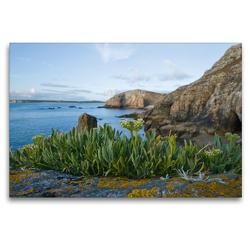 Premium Textil-Leinwand 120 x 80 cm Quer-Format Pointe de Pen-Hir | Wandbild, HD-Bild auf Keilrahmen, Fertigbild auf hochwertigem Vlies, Leinwanddruck von Katja ledieS