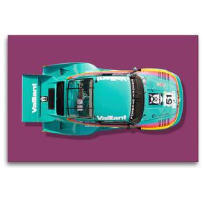 Premium Textil-Leinwand 120 x 80 cm Quer-Format Porsche 935 K2, 1977 | Wandbild, HD-Bild auf Keilrahmen, Fertigbild auf hochwertigem Vlies, Leinwanddruck von Bernhard Schmerl